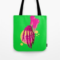bones Tote Bags featuring Bones by Love2Laugh