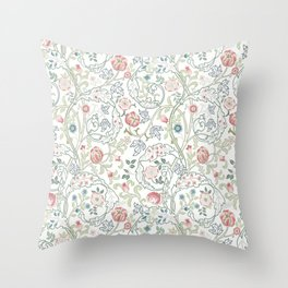 William Morris Pastel Floral Vine Pattern Throw Pillow