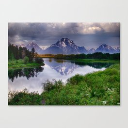 Mt. Moran at Oxbow Bend Canvas Print