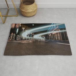 A night street with car traces (Nantong, China) (2015-7NN18) Rug