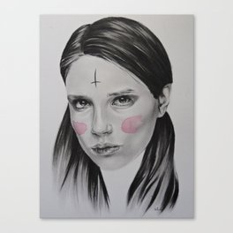 Pink Ashes Canvas Print