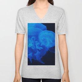 Blue Jelly Fish Unisex V-Neck