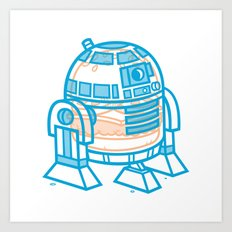 Cheeseburger R2-D2 Art Print