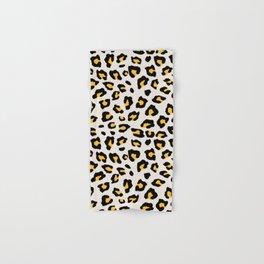 Leopard Print - Mustard Yellow Hand & Bath Towel
