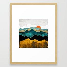 Turquoise Vista Framed Art Print