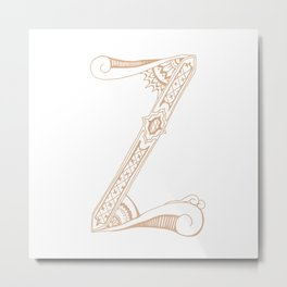 Fancy Z Metal Print