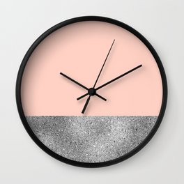 Peach like a diamond Wall Clock