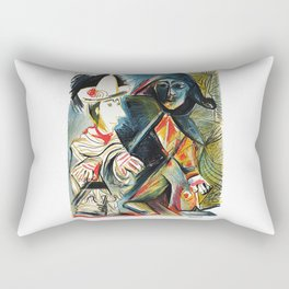 Pablo Picasso Le clown et l'Harlequin (The Clown and the Harlequin) 1971 Artwork, tshirt, tee, jerse Rectangular Pillow