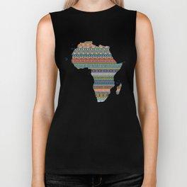 Africa map Biker Tank