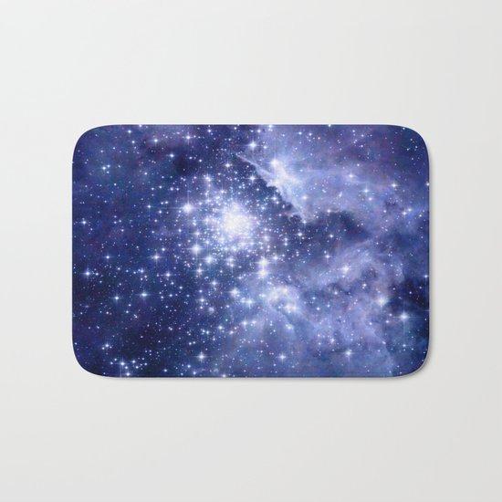 Cobalt Dreams, Universe Stars Space Nebula Bath Mat