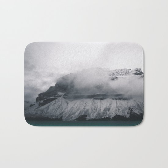 Dreary Mountain Bath Mat
