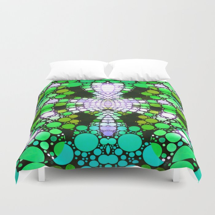 NEON NIGHTS II Duvet Cover