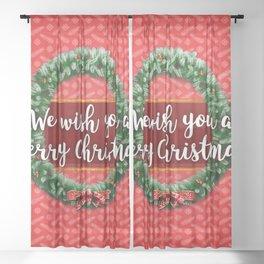 We Wish You a Merry Christmas! Sheer Curtain