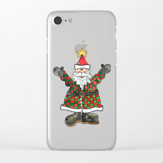 Santa Clear iPhone Case
