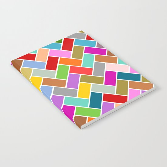 Colourful Tiled Mosaic Pattern Notebook