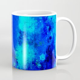 psychedelic color gradient pattern splatter watercolor blue Coffee Mug