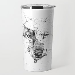 Wolf constellation (Lupus) || Black & White Travel Mug