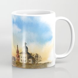 The Church of Elijah the prophet on mount Ivan in Suzdal. Evening landscape. The Golden Ring Of Russ Coffee Mug
