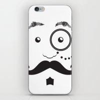 gentleman iPhone & iPod Skins featuring #Gentleman by Thinkorsink
