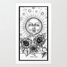 Sun Tarot Art Print