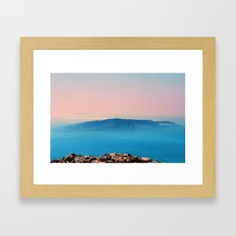 La Gomera, El Hierro from the top of Teide Framed Art Print