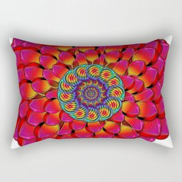 Dahlia Flower Endless Eye Abstract Rectangular Pillow