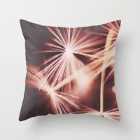ruby Throw Pillows featuring ruby by Ingrid Beddoes