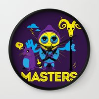 skeletor Wall Clocks featuring SKELETOR by Maioriz Home