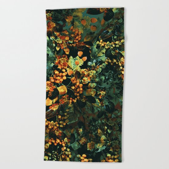 Autumn Nights Beach Towel