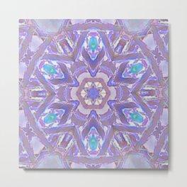 Mandala - Purple Fantasy Metal Print