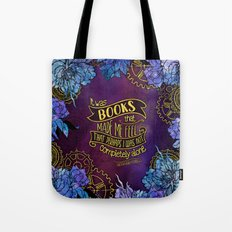 CP - Books Made Me Feel Not Alone (Purple) Tote Bag
