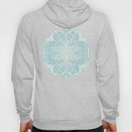 Floral Pattern in Duck Egg Blue & Cream Hoody