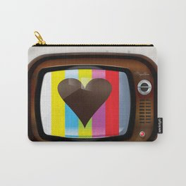 I Love TV vintage poster Carry-All Pouch