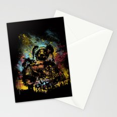 giant panda bot attack Stationery Cards