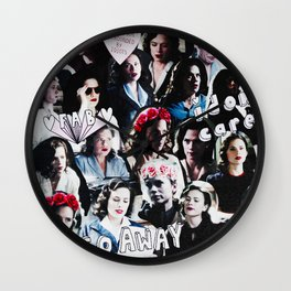 Peggy Carter Sass Wall Clock
