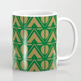 Green Sun & Mountains Abstract Retro Coffee Mug