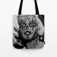 monroe Tote Bags featuring Monroe by mothafuc