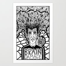 Brain Damage  Art Print