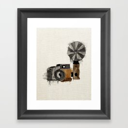 Camera Evolution Framed Art Print