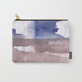 Beige Blue abstract watercolor texture Carry-All Pouch