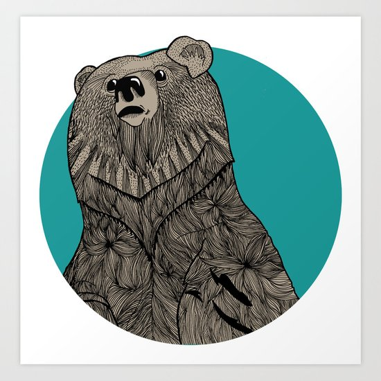 Beary Sketch Art Print