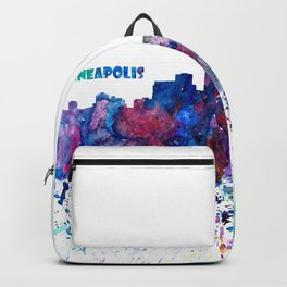 Minneapolis Skyline Silhouette An Impressionistic Blast - Dream Cities Series Backpack