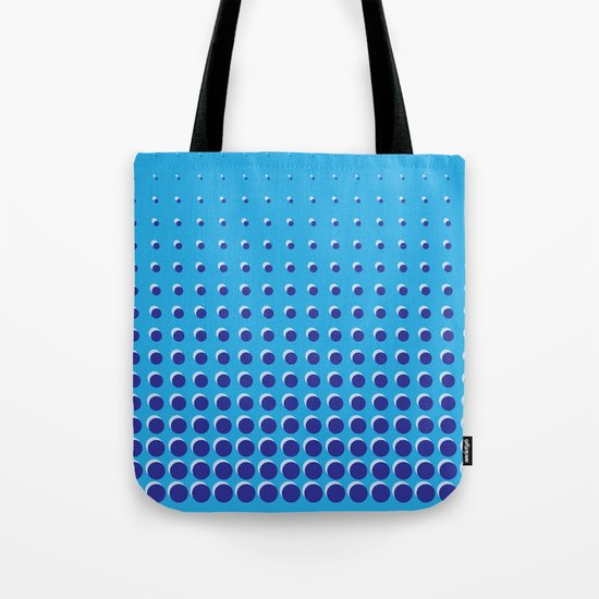 Blue on blue grid - Optical game 14 Tote Bag