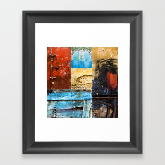 Moroccan Textures Montage Framed Art Print