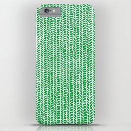 Stockinette Green iPhone Case