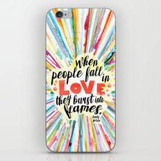 Ill Give You The Sun quote design iPhone & iPod Skin