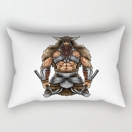 Norseman Berserker | Viking Warrior Valhalla Odin Rectangular Pillow