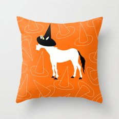 Witch Hat Unicorn Throw Pillow