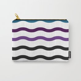 Satin Waves Carry-All Pouch