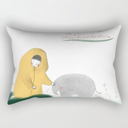 Friends with a little elephant Rectangular Pillow